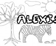 Coloriage et dessins gratuit Les Prénoms Alexis à imprimer