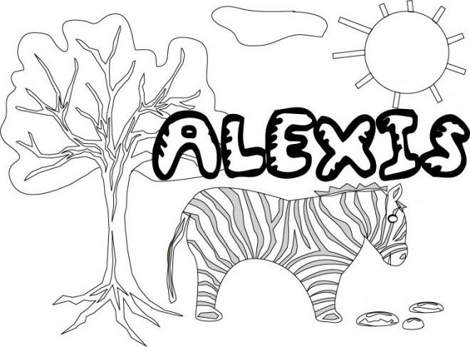 Coloriage et dessins gratuits Les Prénoms Alexis à imprimer