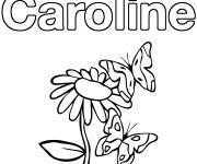 Coloriage et dessins gratuit Les Prénoms Caroline à imprimer