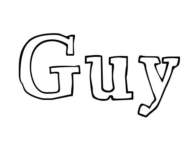 Coloriage et dessins gratuits Les Prénoms Guy à imprimer