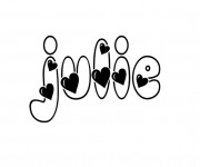 Coloriage et dessins gratuit Les Prénoms Julie à imprimer