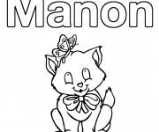 Coloriage et dessins gratuit Les Prénoms Manon à imprimer
