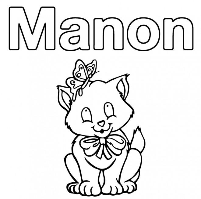 Coloriage les pr noms manon dessin gratuit imprimer - Coloriage prenom tag ...