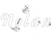 Coloriage et dessins gratuit Les Prénoms Nolan à imprimer