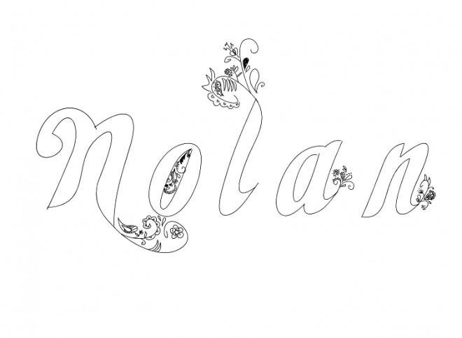 Coloriage et dessins gratuits Les Prénoms Nolan à imprimer