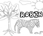 Coloriage et dessins gratuit Les Prénoms Robin à imprimer
