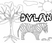 Coloriage Mon Prénom Dylan avec Paysage