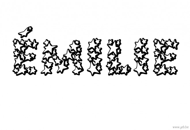 Coloriage mon pr nom milie dessin gratuit imprimer - Prenom a imprimer ...