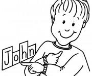 Coloriage et dessins gratuit Mon Prénom John pour Garçon à imprimer