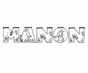 Coloriage et dessins gratuit Mon Prénom Manon à imprimer