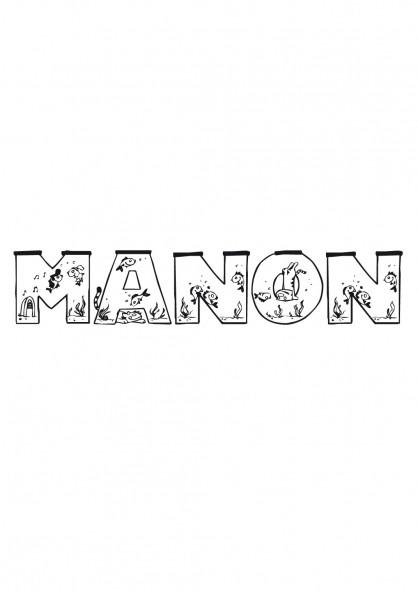 Coloriage mon pr nom manon dessin gratuit imprimer - Tag prenom gratuit ...