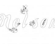 Coloriage et dessins gratuit Mon Prénom Nelson à imprimer