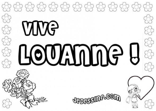 Coloriage et dessins gratuits Vive Louanne à imprimer