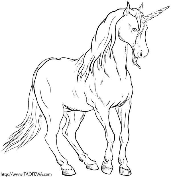 Coloriage et dessins gratuits Illustration Licorne à imprimer