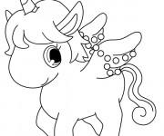 Coloriage Jewelpet Licorne