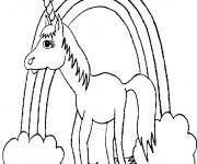 Coloriage dessin  Licorne 1