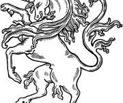 Coloriage dessin  Licorne 10