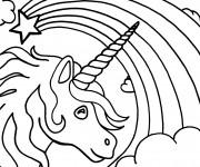Coloriage dessin  Licorne 4
