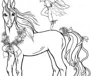 Coloriage dessin  Licorne 9