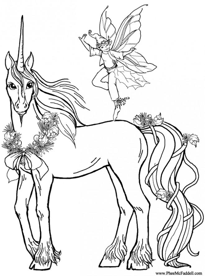 Coloriage Licorne 9 dessin gratuit à imprimer