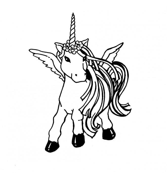 Coloriage et dessins gratuits Licorne à décorer à imprimer