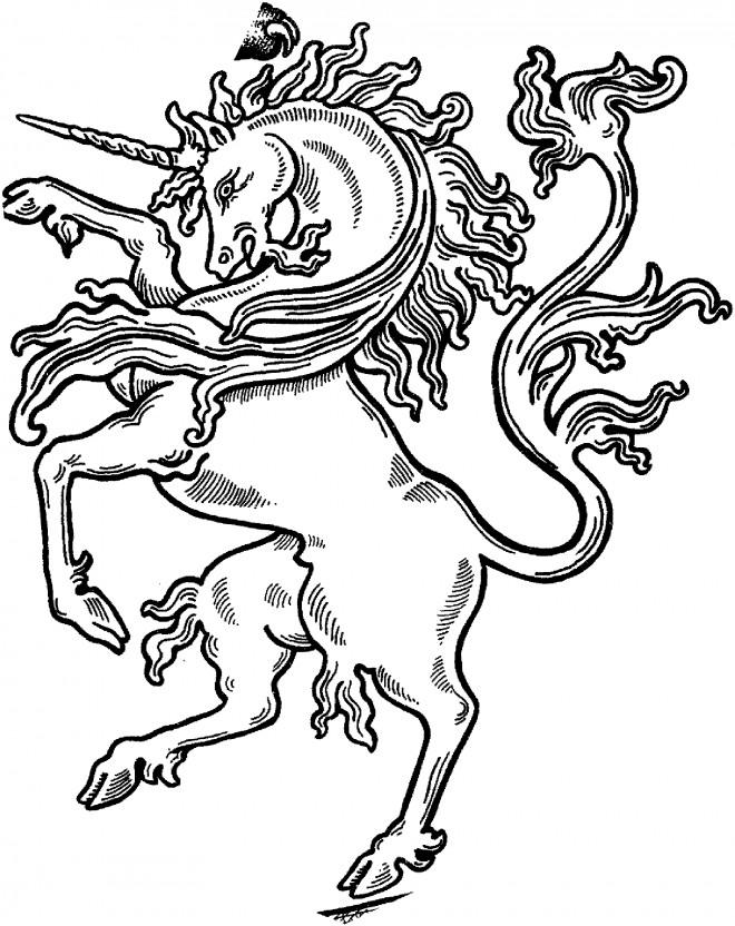 Coloriage et dessins gratuits Licorne à découper à imprimer