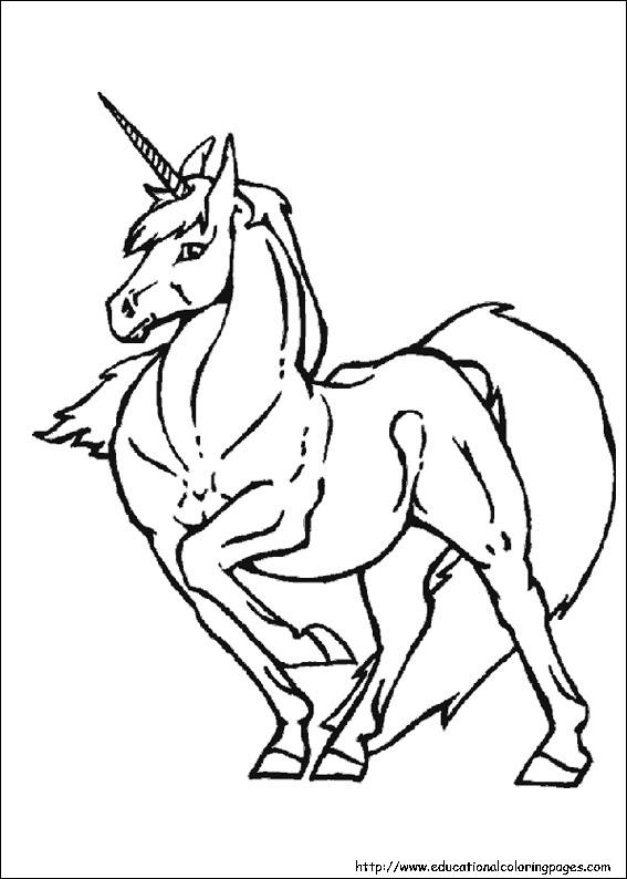 Coloriage et dessins gratuits Licorne à télécharger à imprimer