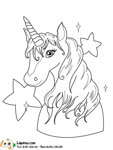 Coloriage licorne cr ature magique dessin gratuit imprimer - Feuille de coloriage gratuit ...