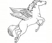 Coloriage Licorne en volant