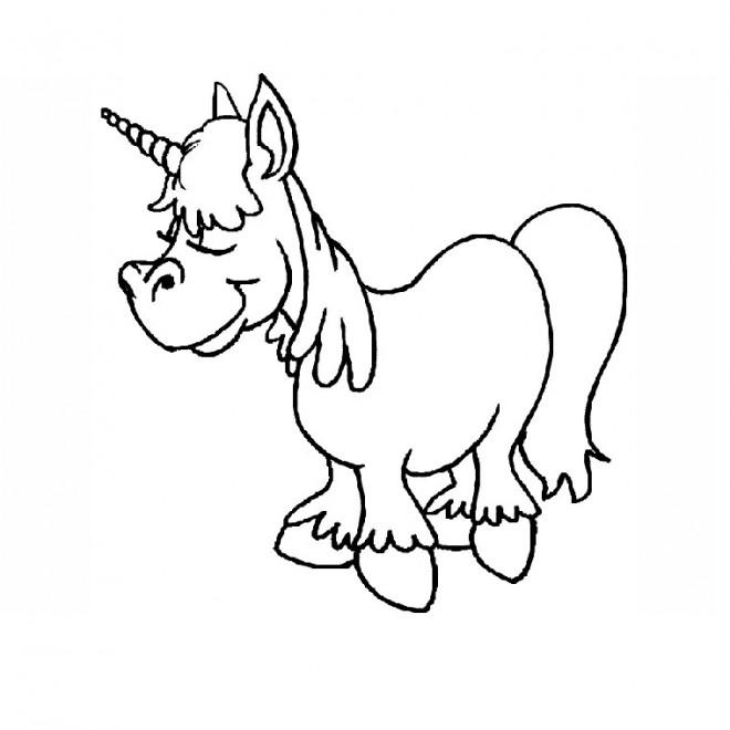 Coloriage et dessins gratuits Licorne humoristique à imprimer