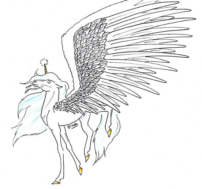 Coloriage et dessins gratuits Licorne imaginaire adorable à imprimer