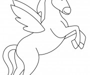 Coloriage Licorne simple