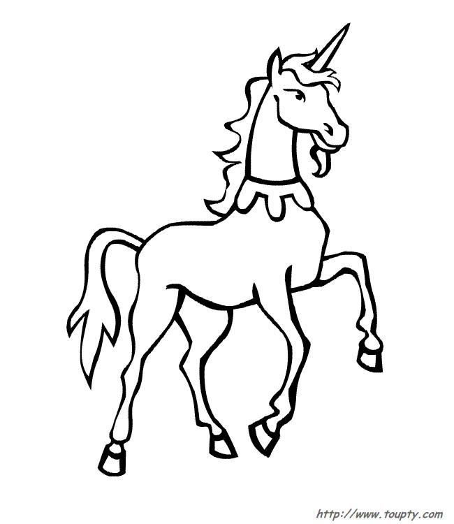 Coloriage et dessins gratuits Licorne sympathique à imprimer