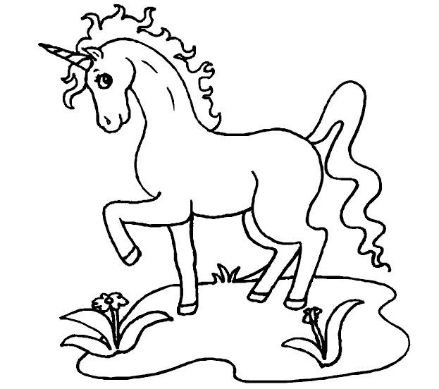 Coloriage et dessins gratuits Licorne te regarde à imprimer
