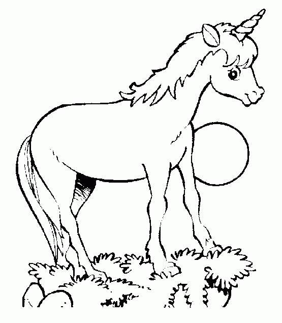 Coloriage et dessins gratuits Petite Licorne drôle à imprimer