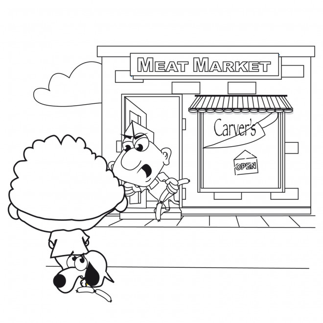 Coloriage et dessins gratuits Boucher Dessin Animé à imprimer