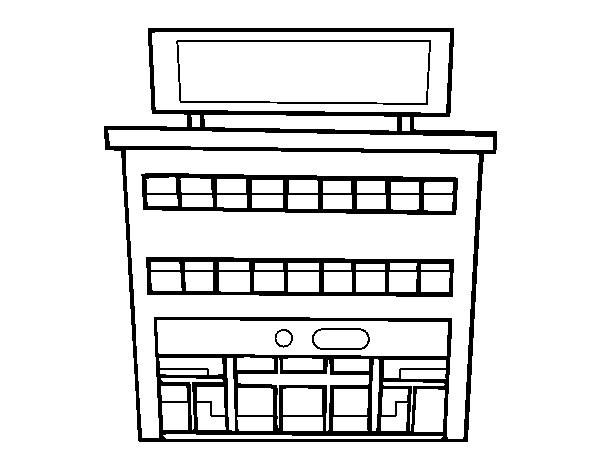 Coloriage et dessins gratuits Centre commercial facile à imprimer