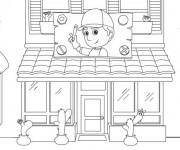 Coloriage et dessins gratuit Façade de Magasin à imprimer