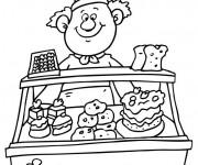 Coloriage et dessins gratuit La  Pâtisserie à imprimer