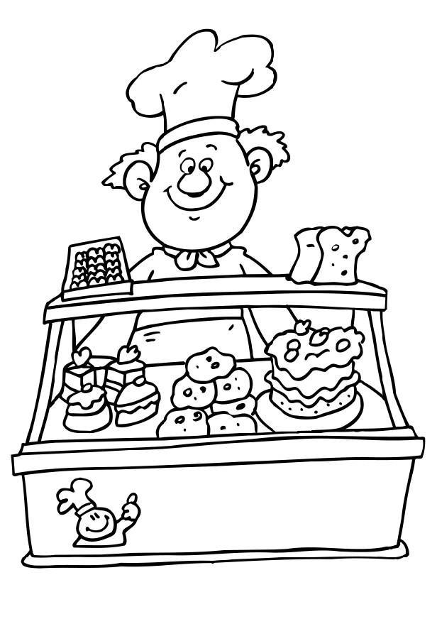 Coloriage et dessins gratuits La  Pâtisserie à imprimer