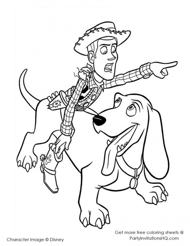 Coloriage et dessins gratuits Le Cowboy et son Chien Disney à imprimer