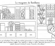 Coloriage et dessins gratuit Le Magasin de Bonbons à imprimer