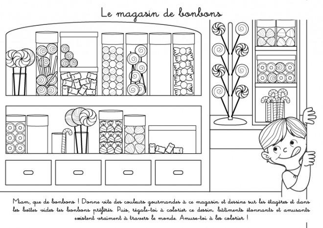 Coloriage A Imprimer Bonbon.Coloriage Le Magasin De Bonbons Dessin Gratuit A Imprimer