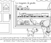 Coloriage et dessins gratuit Le Magasin de Jouets pour Enfant à imprimer