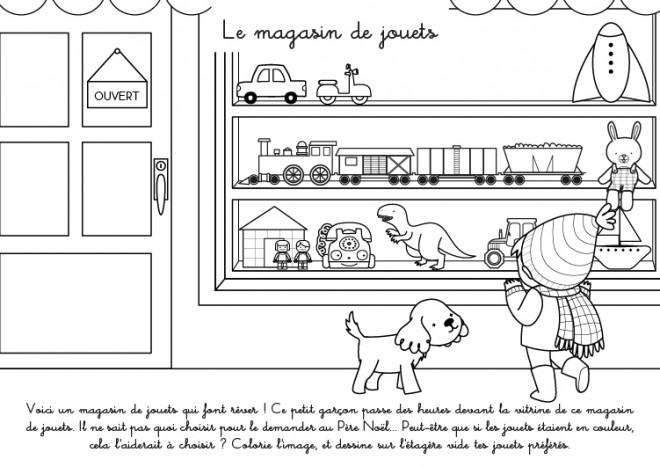 Coloriage et dessins gratuits Le Magasin de Jouets pour Enfant à imprimer