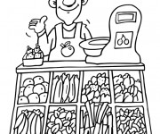 Coloriage Magasin