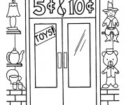 Coloriage Magasin 3