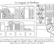 Coloriage dessin  Magasin 9