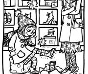 Coloriage et dessins gratuit Magasin de Chaussures à imprimer