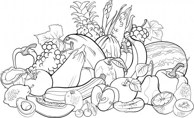 Coloriage et dessins gratuits Magasin de Fruits à imprimer